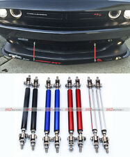 2x RED Adjustable Bumper Lip Air Dam Splitter Support Rods Strut Tie Bar 150mm