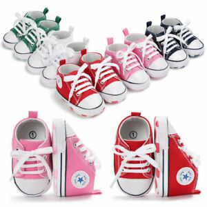 Newborn Baby Boy Girl Shoes Infant Sneakers Toddler Pre Walker Trainers 0-18 UK