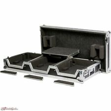 """DeeJay LED Universal DJ Coffin Case for 2 CD Players & 12"""" Mixer + Laptop Shelf"""