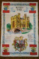 Vintage Ulster Irish Linen Tea Towel Travel Souvenir Bunratty Castle Ireland