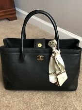 Preowned Chanel Executive Cerf Tote Black Caviar GHW (great condition)