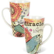 Carson Homes Coffee Mug Cup 19 oz Ceramic Latte Miracles Do Happen!