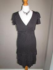 V-Neck Short Sleeve Spotted Dresses Midi
