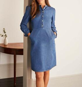 BODEN Damen Jeans Kleid-Elsie Denim Dress- 12R 38