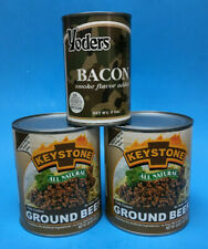 Yoders Bacon & Ground Beef ~ 3 Cans Of Real Meat Emergency Food ~ The Wise Prep