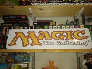 "MAGIC The Gathering sign, 6"" x 24"" Aluminium display! MTG !!!"
