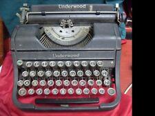 Vintage 1930's Underwood Portable Typewriter No Hard Case #2068