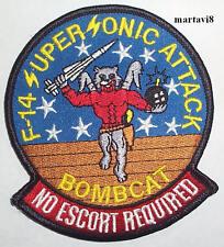 US.Navy F-14 Tomcat `BOMBCAT` Cloth Badge / Patch (F14-38)