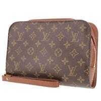 LOUIS VUITTON Orsay Clutch Hand Bag Monogram M51790 Vintage Authentic #RR265 Y