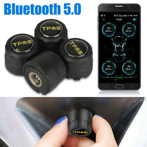 Car TPMS Bluetooth 5.0 Tire Pressure Monitoring System 4 External Sensor