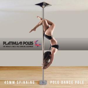 PLATINUM POLES™ 45mm Professional Spinning Pole Dancing Pole - Sport / Fitness