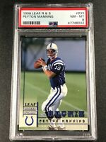 PEYTON MANNING 1998 LEAF ROOKIES & STARS #233 ROOKIE RC NM-MINT PSA 8 COLTS NFL