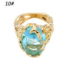 Fashion Engagement Rings Big Blue Crystal Stone Zircon Ring Bridal for Women 10