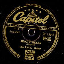 LES PAUL -GUITAR-  JINGLE BELLS!!!  / Silent Night....   X-MAS Schellack  S8278