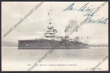 CORAZZATA BOUVET 01 FRANCE - NAVE MARINA DA GUERRA WARSHIP Cartolina viagg. 1904