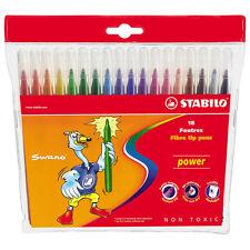 STABILO POWER punta in fibra penne confezione da 18 Pennarelli Lavabili Punta a secco-resistenti