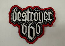 DESTROYER 666 Patch Embroidered Iron/Sew-on Black Metal Free Worldwide Shipping