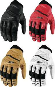 Icon Superduty 2 Gloves - Motorcycle Street Bike Riding Leather Mens