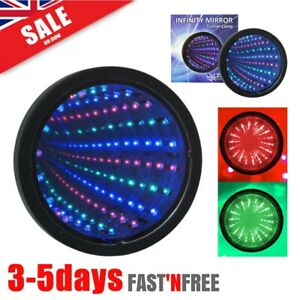 LED Sensory Infinity Mirror Light Autism Tunnel Wall Relaxing Calm Desk Lamp Hot