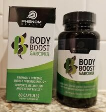 Phenom Health Body Boost Garcinia - 60 Capsules - 1 Month New Sealed Exp. 12/20