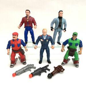 Vintage 1993 ERTL Super Mario Bros Action Figures x 5 Spike Iggy Luigi Koopa
