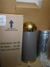 New Register Round Gold Top Trash Can Indoor Push-Top Dome Waste