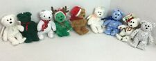 Ty Beanie Babies Plush Holiday Bears Lot of 5 Christmas, St Patricks, Easter,