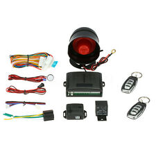 Car Security Alarm System Keyless 1-Way Auto Vehicle Burglar Door Lock 2 Remote