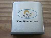 DESOTO Inc RARE vintage tape measure old auto car ZIPPO De Soto advertising