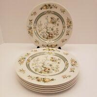 "ROYAL DOULTON China TONKIN TC1107 pattern Set of (6) Salad Plates 8"" green 1974"