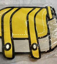 3D Drawing Comic Cartoon Satchel Shoulder Bag Yellow Smart Cool Girl Laptop