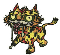Dead Zombie Cat Iron On Patch On Jacket Shirt