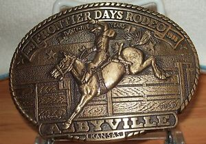 AWARD DESIGN MEDALS 25TH FRONTIER DAYS RODEO ABBYVILLE