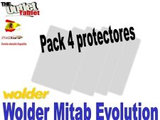 "Pack 4 Protectores pantalla para Tablet Wolder mitab Evolution 10.1"" universal"