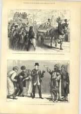 1881 GEORGE STEPHENSON CENTENARIO Newcastle Processione di cavalli da tiro e Wago