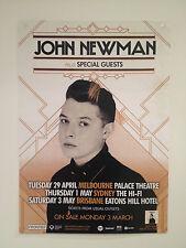 JOHN NEWMAN 2014 Australian Tour Poster A2 Tribute Rudimental Love Me Again *NEW