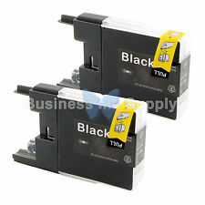 2 BLACK LC71 LC75 Ink Cartridge for Brother MFC-J5910DW MFC-J625DW MFC-J6510DW
