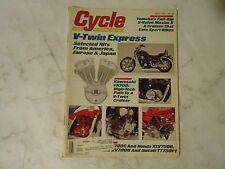 APRIL 1985 CYCLE MAGAZINE,V-TWIN EXPRESS KAWASAKI VN900,YAMAHA XJ700X,KAWA KX250