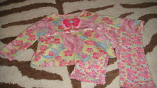 BOUTIQUE BABY LULU 12M 12 MONHTS FLORAL BUTTERFLY TOP PANT SET