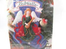 "New Bucilla Heavenly Minstrel Jeweled Felt Stocking 15"" Kit Christmas Angel 1995"