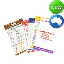 Code Blue Reference Cards Pack for Nurses l Doctor l Students Drug Cards