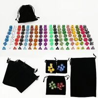126PCS 18 Sets Polyhedral Dungeons & Dragons TRPG game Dice & 19 Dice Bags