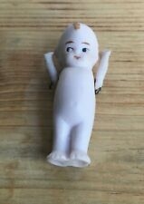 Vintage Dollhouse or Miniature German Pin Jointed Arms Kewpie Style Bisque Doll