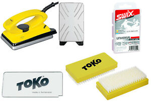 Toko Skiwachs-Start Set 4-teilig inkl. Wachseisen - Alpin + Nordic + Board