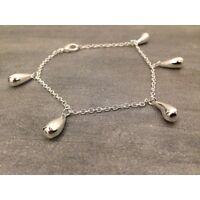 Bracelet en argent avec 5 petites gouttes, un bracelet pour femme