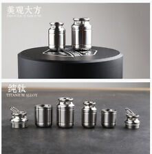 1Pcs Titanium Bottle Case Waterproof Medicine Pill Container Box Keychain Holder