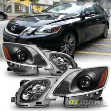 For HID/AFS 2006-2011 Lexus GS300 GS350 GS450h GS460 Headlights Projector Black