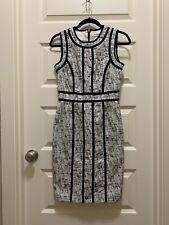 Calvin Klein White And Black Sheath Dress Size 2