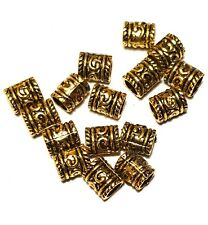 16 x Antique Gold Tone Tibetan Style Column/Tube Beads Jewellery Findings