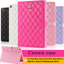 Luxury Crown Smart Wake Leather Case Cover For iPad Pro 9.7 Air/Air 2 Mini 2/3/4